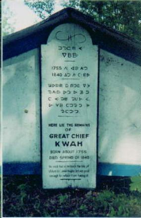 The Grave of Chief Kw'eh
